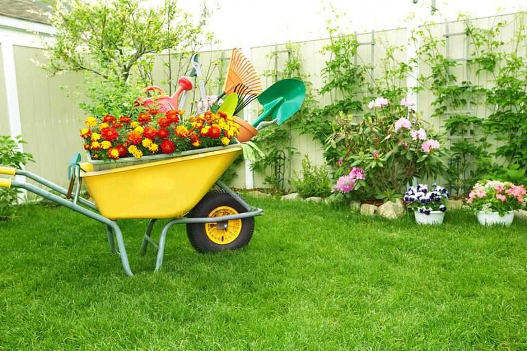 Decorar jardín barato