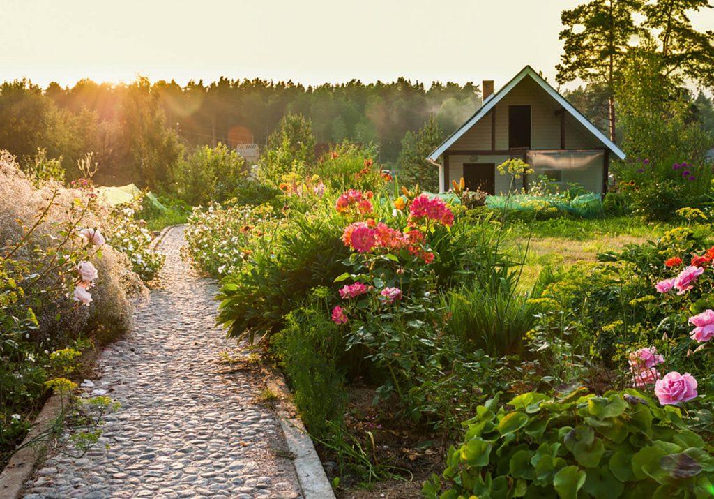 jardines rústicos con piedras