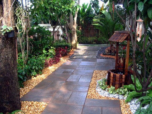 jardines pequeños rústicos
